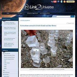 Formazione naturale di Cubi di Sale nel Mar Morto