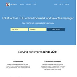 linkaGoGo - free Online Favorites manager and Social Bookmarking Application