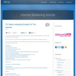 70+ Best Linkbaiting Guides On The Internet | SEOzy