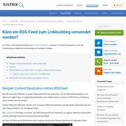 Kann ein RSS-Feed zum Linkbuilding verwendet werden?
