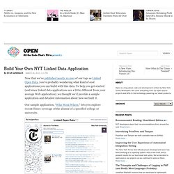 Build Your Own NYT Linked Data Application