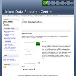 Linked Data Applications | Linked Data Research Centre