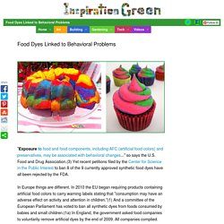 Food Dyes Linked to Behavioral Problems