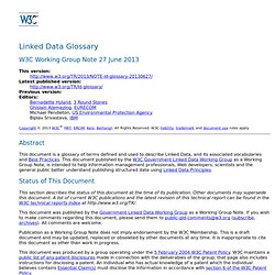 Linked Data Glossary