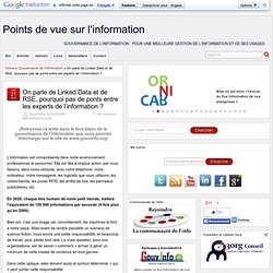 2012, Linked Data, RSE, et ponts entre les experts de l'information