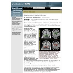 10.22.2007 - Sleep loss linked to psychiatric disorders