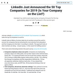 LinkedIn Just Announced the 50 Top Companies for 2019 (Is Your Company on the List?)