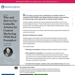 How to Use LinkedIn Articles for Content Marketing