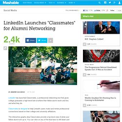 "LinkedIn Launches ""Classmates"" for Alumni Networking"