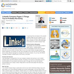 LinkedIn Company Pages: 5 Things You're Probably Not Doing