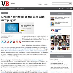 LinkedIn wants to connect to the Web with new plugins