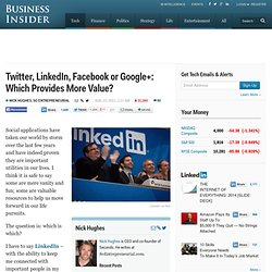 Twitter, LinkedIn, Facebook or Google+: Which Provides More Value?