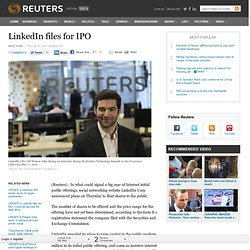 LinkedIn files for IPO