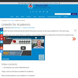 LinkedIn for Academics - RapidBI