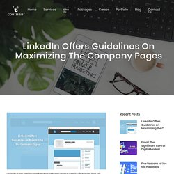 LinkedIn Offers Guidelines on Maximizing the Company Pages