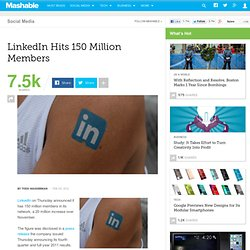 LinkedIn Hits 150 Million Members