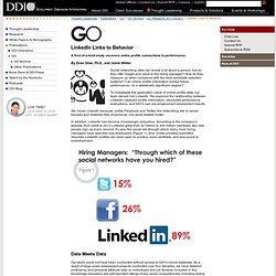 LinkedIn Links to Behavior | DDI