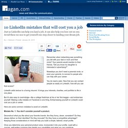 10 LinkedIn mistakes that will cost you a job