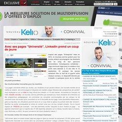 """LinkedIn ouvre ses pages """"Université"""""""