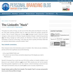"The LinkedIn ""Hack"""