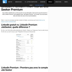 Linkedin Premium : mon Test de Job Seeker Premium