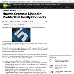 How to Create a LinkedIn Profile That Really Connects