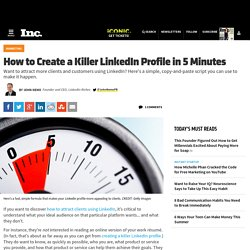 How To Create a Killer LinkedIn Profile in 5 Minutes