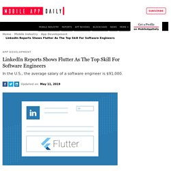 LinkedIn Reports Shows Flutter As The Top Skill For S