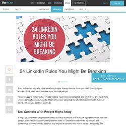 LinkedIn Rules - LinkedIn Tips and Etiquette