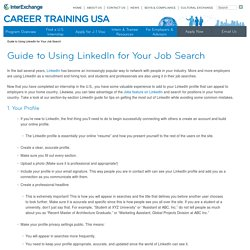 Guide to Using LinkedIn for Your Job Search