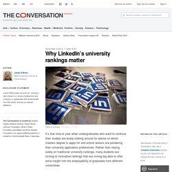 Why LinkedIn's university rankings matter