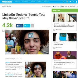 LinkedIn Updates 'People You May Know' Feature
