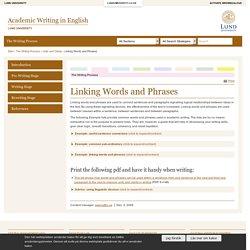 Academic Writing in English, Lund University