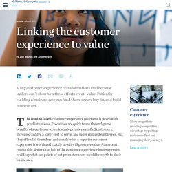 Linking the customer experience to value