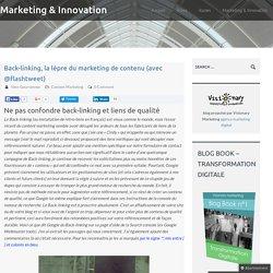 Back-linking, la lèpre du marketing de contenu (avec @flashtweet)