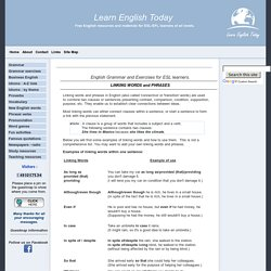 Linking words and transitional phrases in English - how to use them