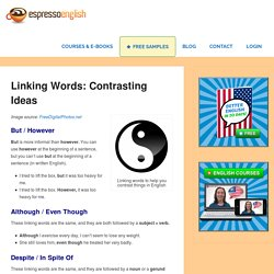 Linking Words: Contrasting Ideas – Espresso English