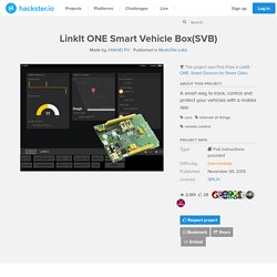 LinkIt ONE Smart Vehicle Box(SVB)
