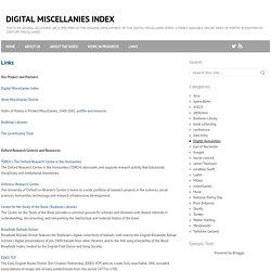 Links ~ Digital Miscellanies Index