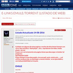 E-Links Emule/Torrent (Listado de Web) : Emule