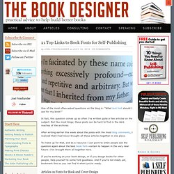 Top Links to Fonts for Your Self-Published Book
