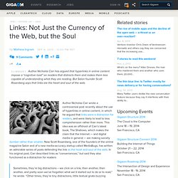 Links: Not Just the Currency of the Web, but the Soul «