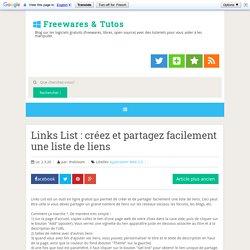 Links List : créez et partagez facilement une liste de liens