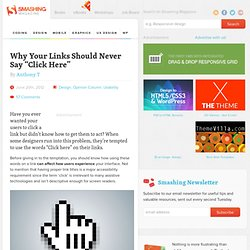 "Why Your Links Should Never Say ""Click Here"""