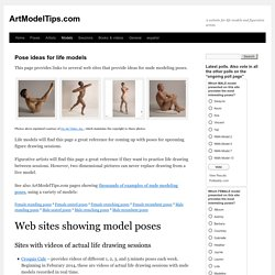 Links to sites showing poses for life models