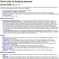 Links for Studying Japanese Online
