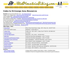 Links to St. George Area Resources