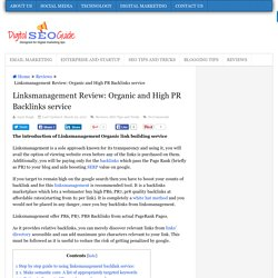 Linksmanagement Review: Organic and High PR Backlinks service