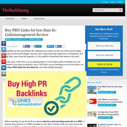 LinksManagement Review- Buy PBN Links for Less Than $1