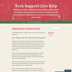 Linksys Router Customer Service